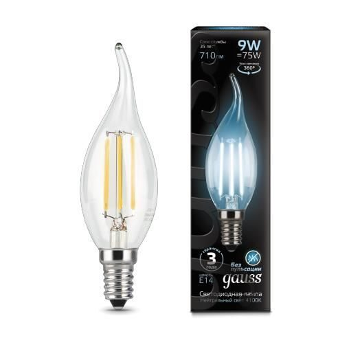 Лампа Gauss LED Filament Candle tailed E14 9W 4100K