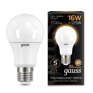 Лампа Gauss LED A60 16W E27 3000K