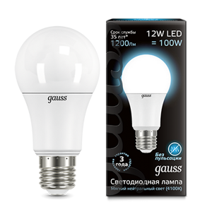 Лампа Gauss LED A60 12W E27 4100K