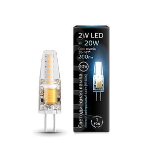 Лампа Gauss LED G4 12V 2W 4100K