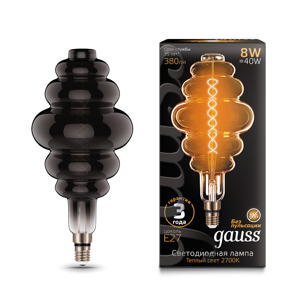 Лампа Gauss Led Vintage Filament Flexible BD200 8W E27 200*410mm Gray 2700K