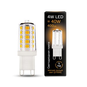Лампа Gauss LED G9 AC185-265V 4W 2700K керамика