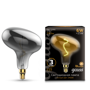Лампа Gauss Led Vintage Filament Flexible FD180 6W E27 220*280mm Gray 2400K