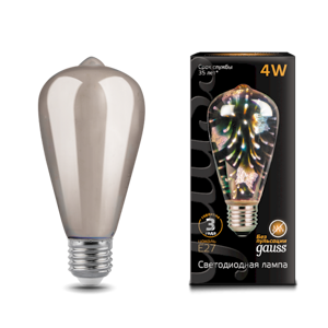 Лампа Gauss Filament ST64 4W Е27 Butterfly-3D LED