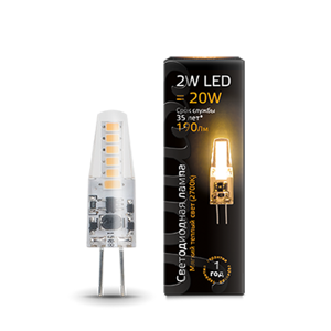 Лампа Gauss LED G4 AC220-240V 2W 2700K