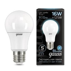 Лампа Gauss LED A60 16W E27 4100K