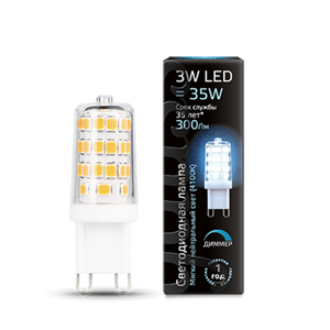 Лампа Gauss LED G9 AC185-265V 3W 4100K dimmable